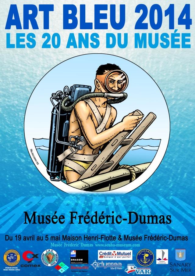 Affiche Art bleu 2014(HD)