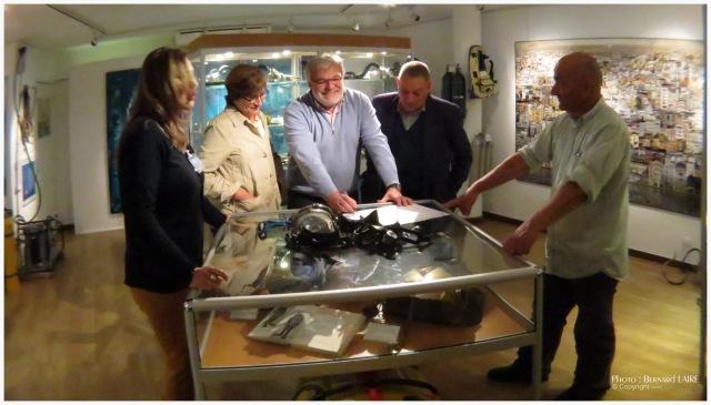 Giovana Ritter hôtesse du musée, Monique sérénon, Philippe Sérénon, Guy L